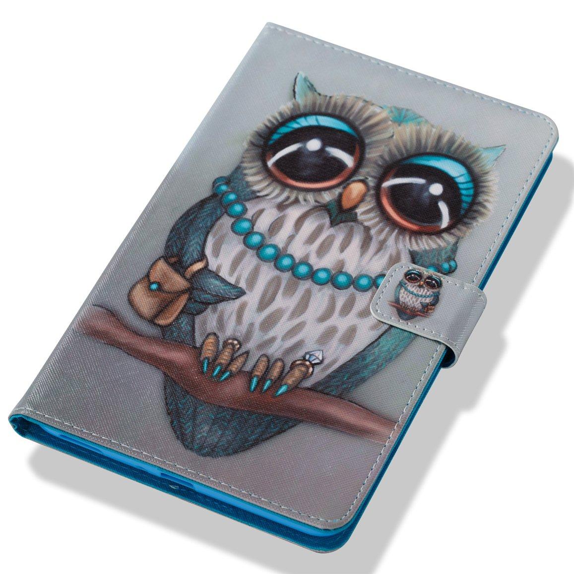 Romantronic Samsung Galaxy Tab A 8.0 Pouces 2017 SM T385 T380 /Étui Magn/étique Coque Stand Housse Coque Flip Cuir Leather Housse de Protection Cute Colorful Pattern Conception Y18