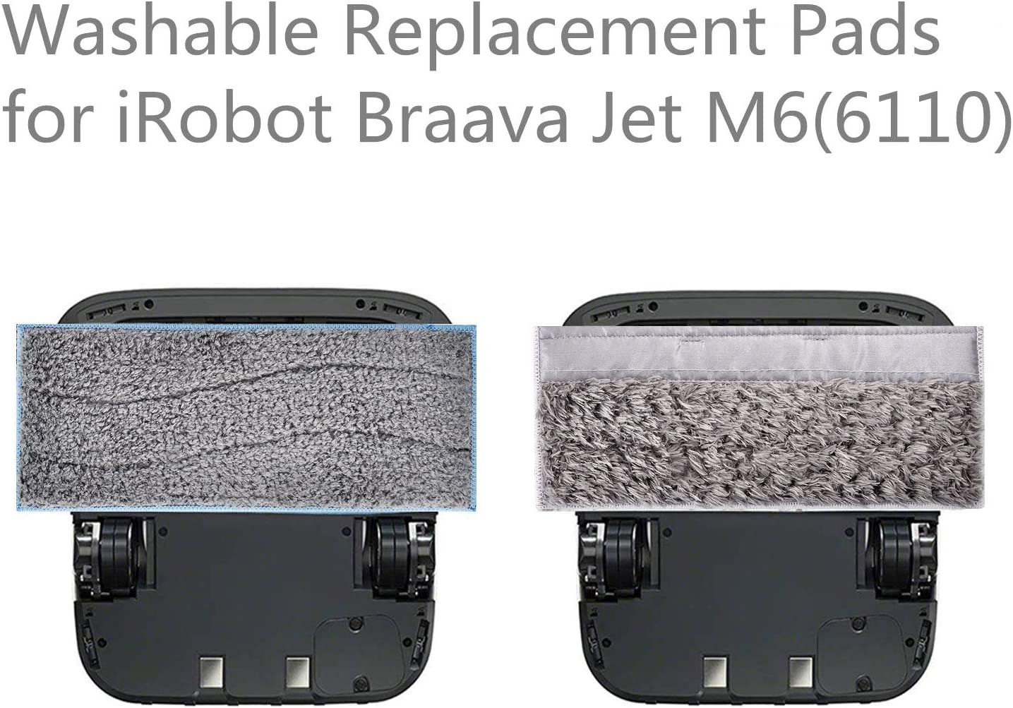 QPX Replacement Parts for iRobot Braava Jet m6 Washable Pads Multi-Pack 3 Wet /& 3 Dry Pads