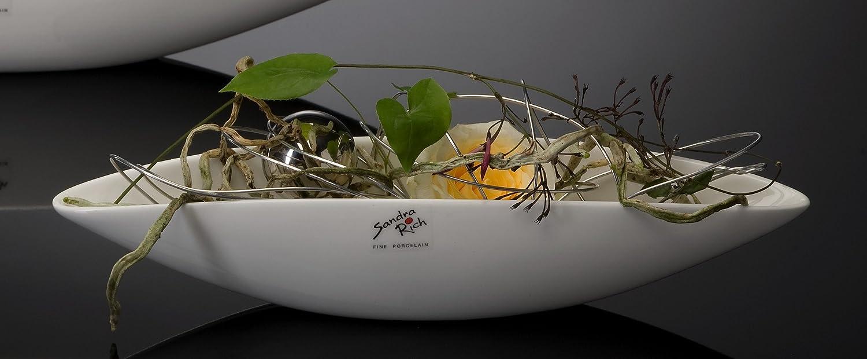 Ciotola ovale in porcellana Elongate bianco Sandra Rich Porcellana 22,0 x 5,0 cm