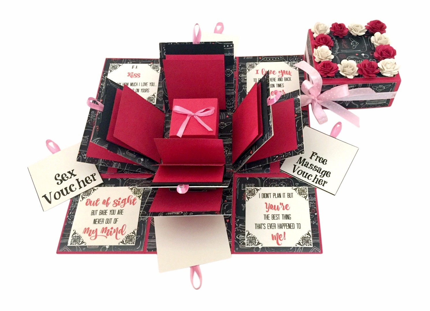 Crack Of Dawn Crafts 3 Layered Romantic Explosion Box Pink Love