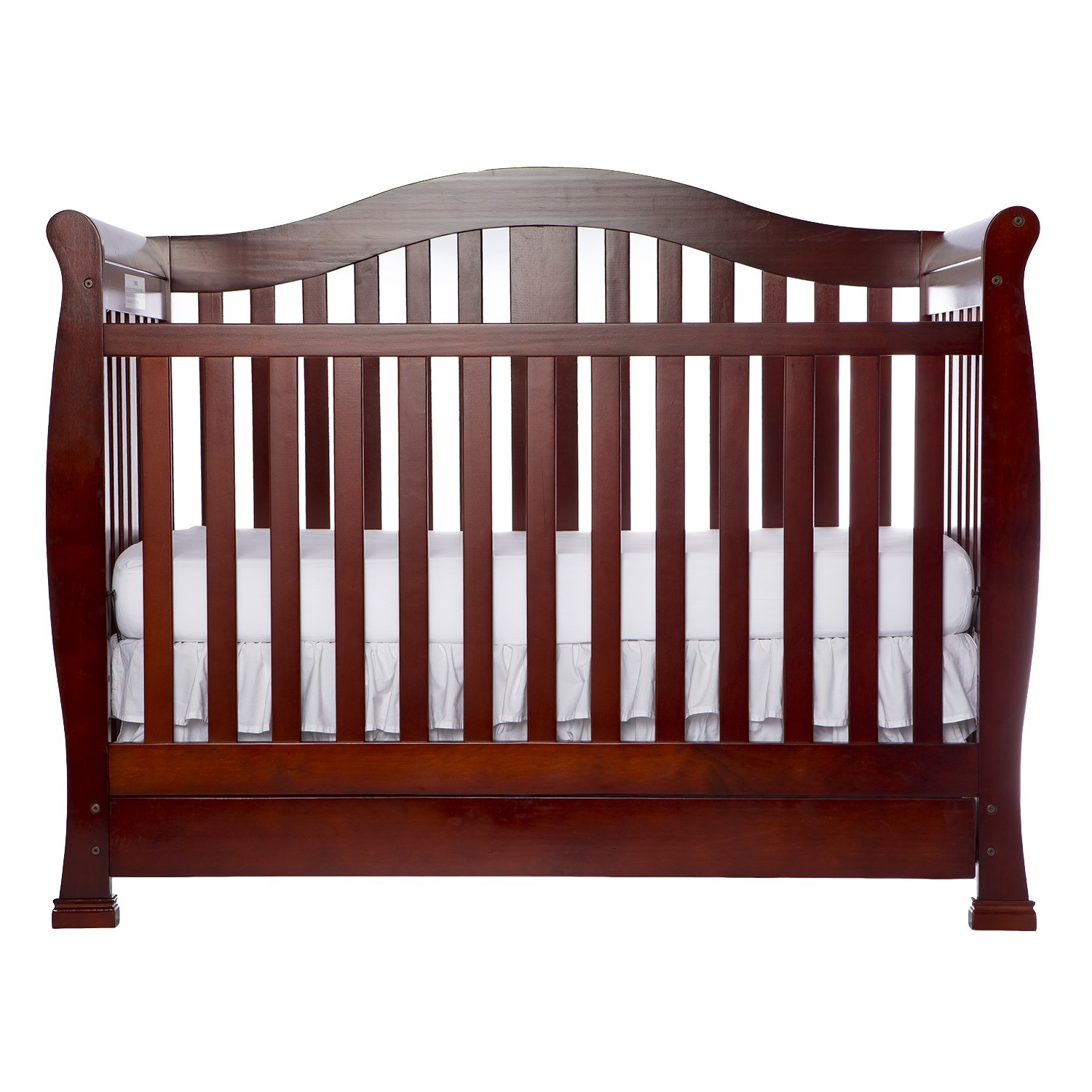 Amazon.com : Dream On Me Addison Crib, Cherry : Convertible Cribs : Baby