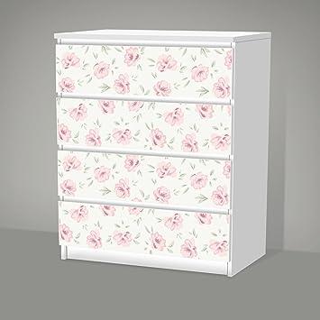 Aufkleber Fur Ikea Malm 4 Schubladen Shabby Chic Blumenmuster