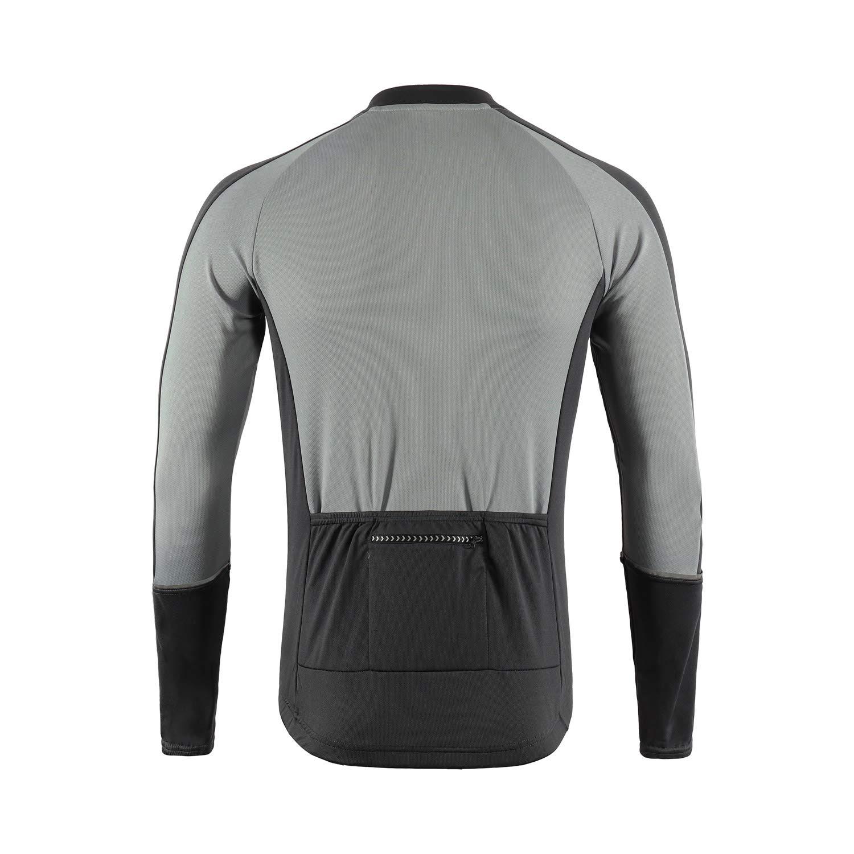 ARSUXEO Mens Basic Cycling Jersey Long Sleeves MTB Bike Bicycle Shirt 6033