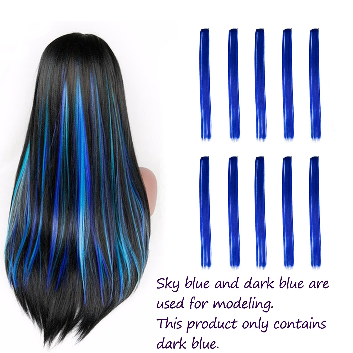 Blue Aqua hair highlights forecasting dress in everyday in 2019