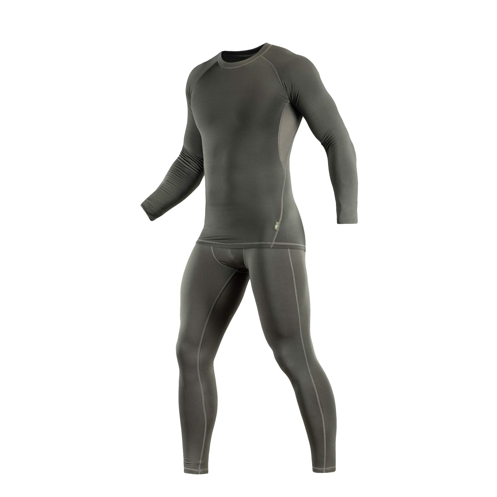 M-Tac Thermal Underwear Set for Men Base Layer Fleece Lined Top & Bottom Ultra-Soft (Olive, L) by M-Tac
