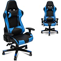 X&T Ergonomic Gaming Chair Racing Style Swivel PC Computer Chair Adjustable Height High Back Office Chair, PU Leather…