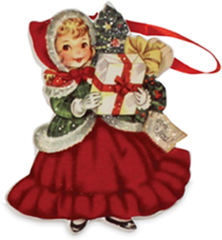 Retro Vintage Style Christmas Wood Ornaments