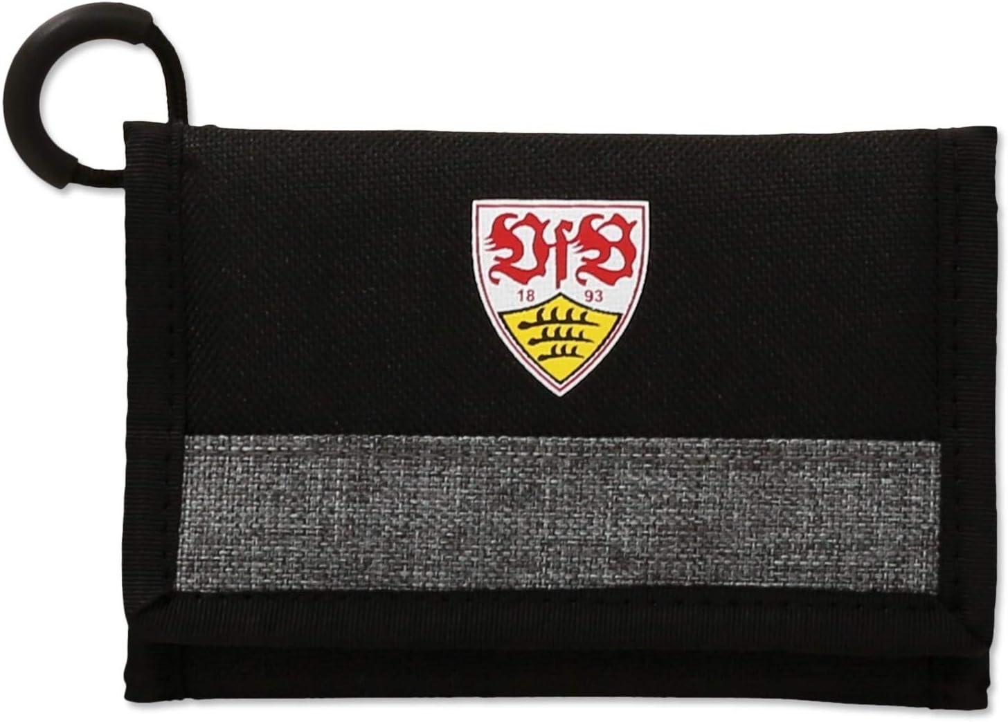 Geldb/örse schwarz//anthrazit Plus Lesezeichen Wir lieben Fu/ßball Portmonee VfB Stuttgart Geldbeutel