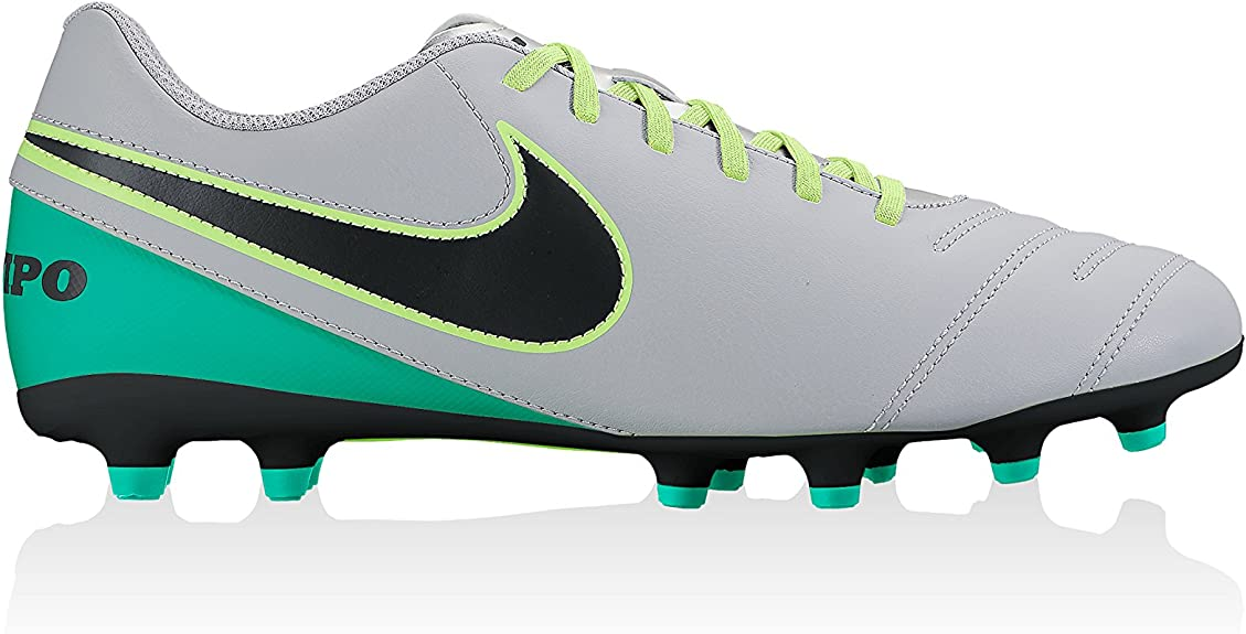 elemento implícito Prescripción  Nike JR Tiempo Rio III FG, Unisex Adult's Football Boots Football Boots,  Gris (Wolf Grey / Black-Clear Jade), 5.5 UK (38.5 EU): Amazon.co.uk: Shoes  & Bags