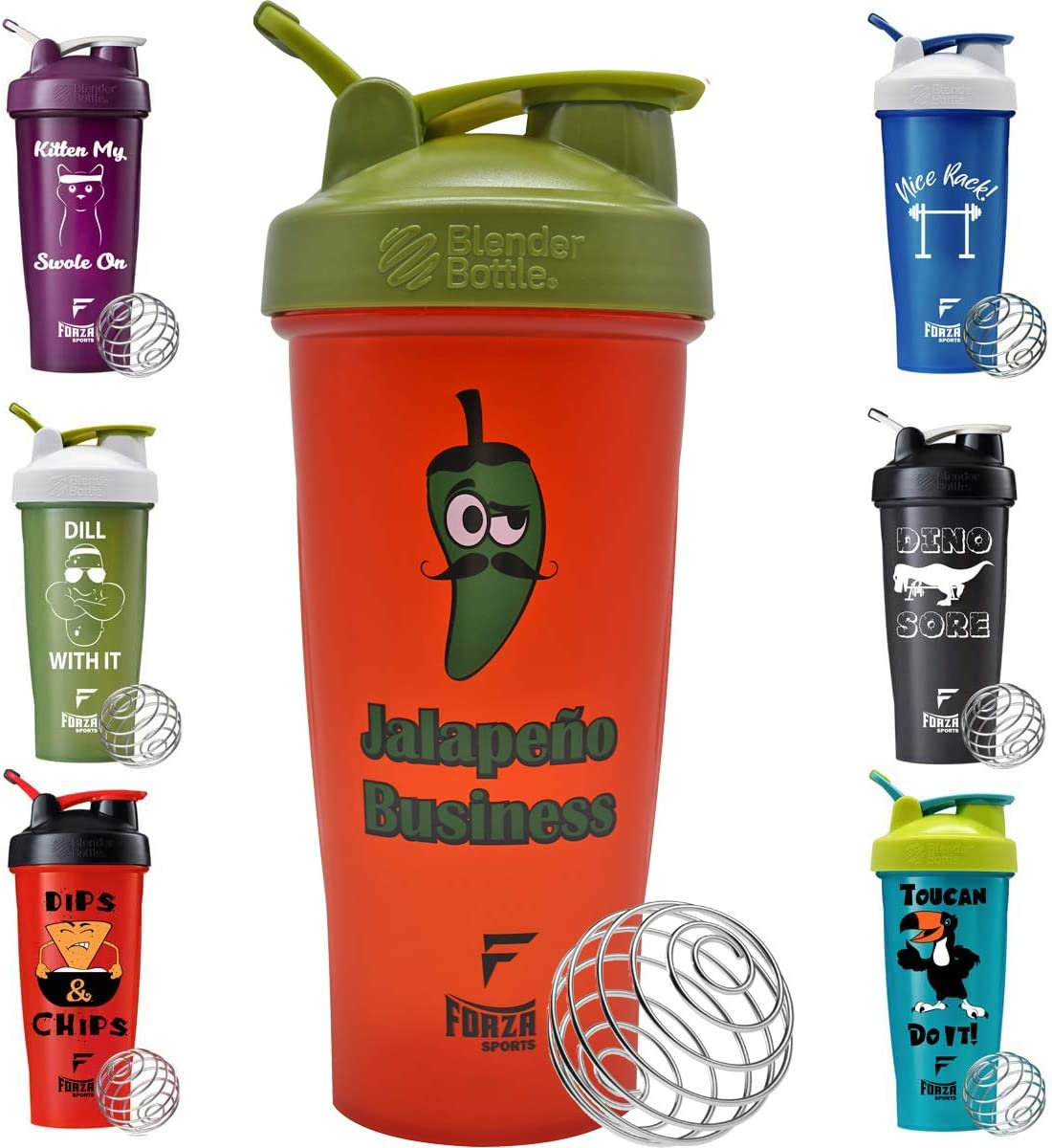 Blender Bottle x Forza Sports 28 oz. Classic Shaker - Jalapeno Business