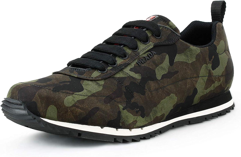 Prada Men's Nylon Camo Sneaker