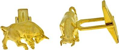 Bull Cufflinks 14Kt Yellow Gold Plated