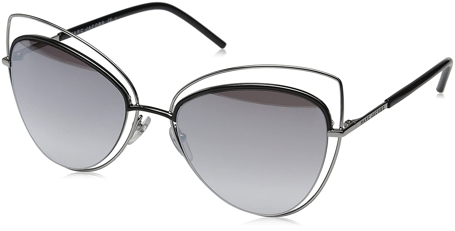 Marc Jacobs Women 8/S FU 25K 56 Sunglasses, Black (Ruthblackblk/Gry Sf SLV Sp) MARC8S