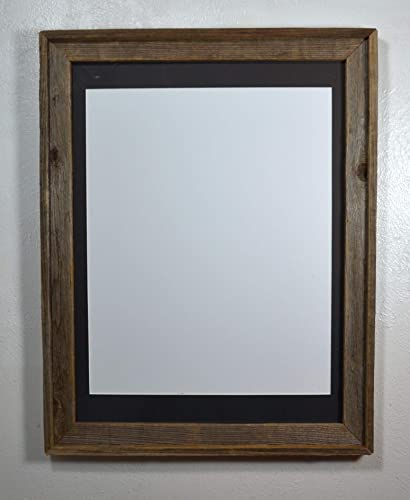 Amazoncom Rustic Reclaimed Wood Poster Frame With 16x20 Black Mat