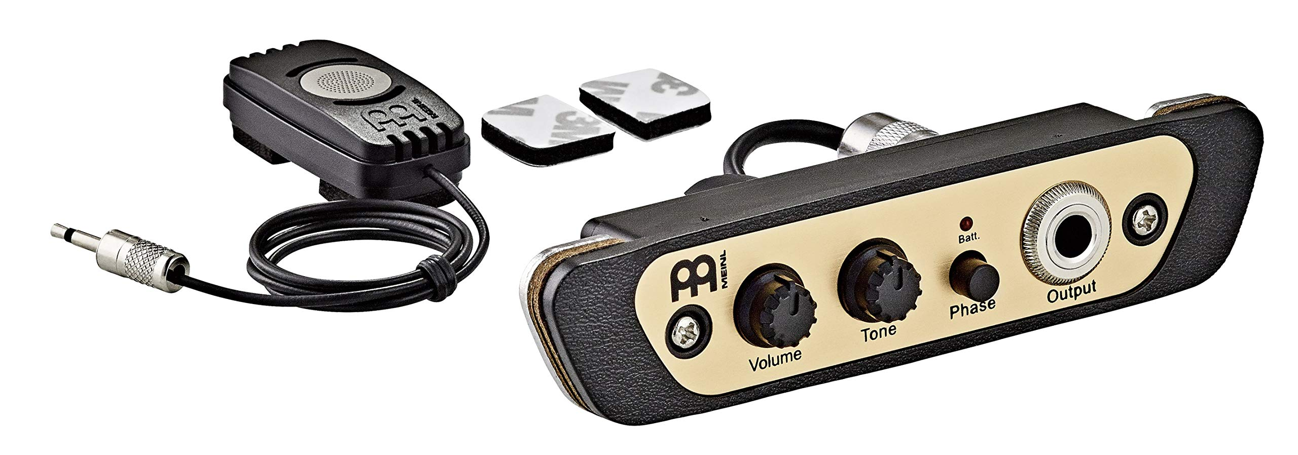 Meinl Percussion Cajon Box Drum Preamp/Pickup for Most Common Models, Eliminate Mic Stands and Get Crystal Clear Sounds, 2-YEAR WARRANTY (PA-CAJ)