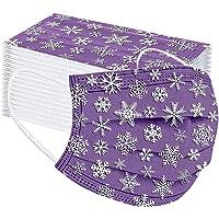 tyijunx Mondkapje voor eenmalig gebruik, stofbescherming, ademende print, outdoor accessoire met kerstmotief, halsdoek…