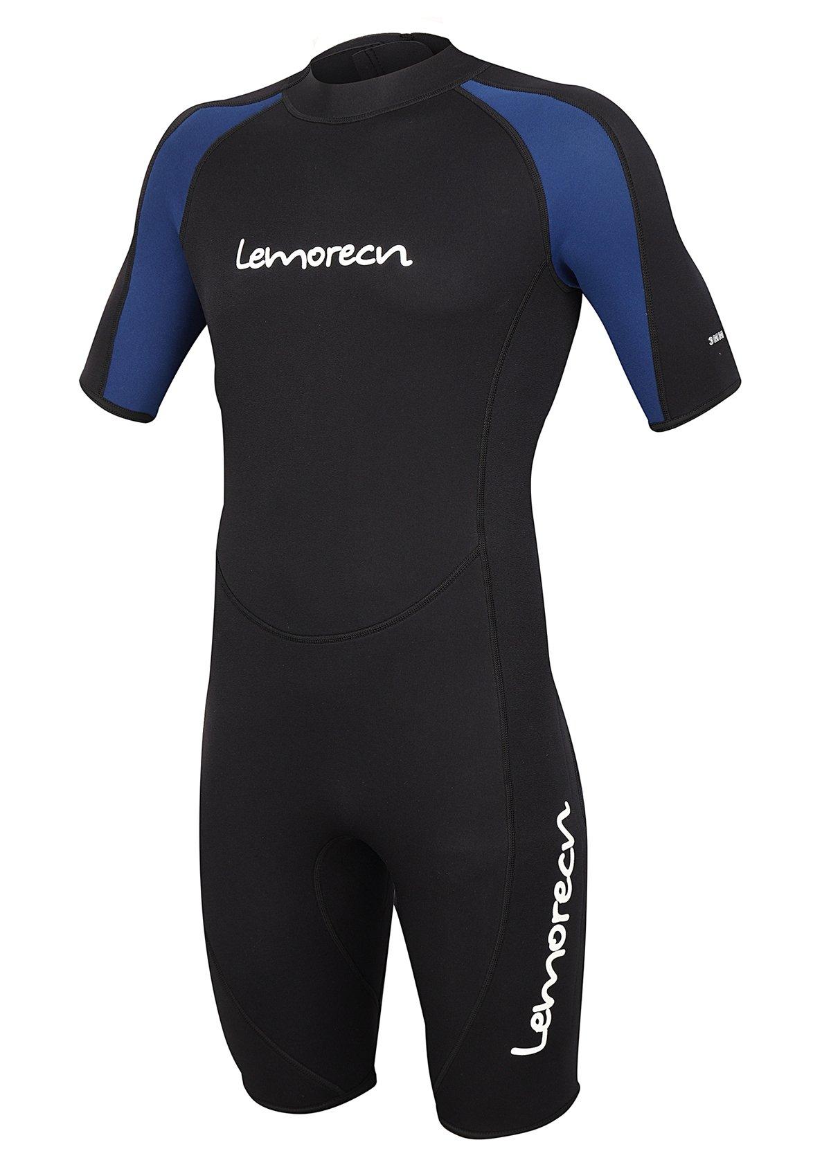 Lemorecn Wetsuits Mens Premium Neoprene Diving Suit 3mm Shorty Jumpsuit(3035,2XL) by Lemorecn (Image #1)