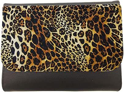 محفظة جلد  بتصميم لون النمر جاكوار ، مقاس 11cm X 14cm