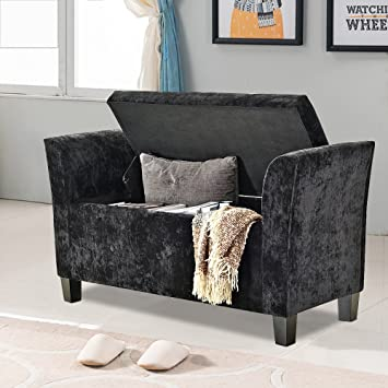 Sensational Weibo Crushed Velvet Storage Bench With Arms Button Tufted Gmtry Best Dining Table And Chair Ideas Images Gmtryco