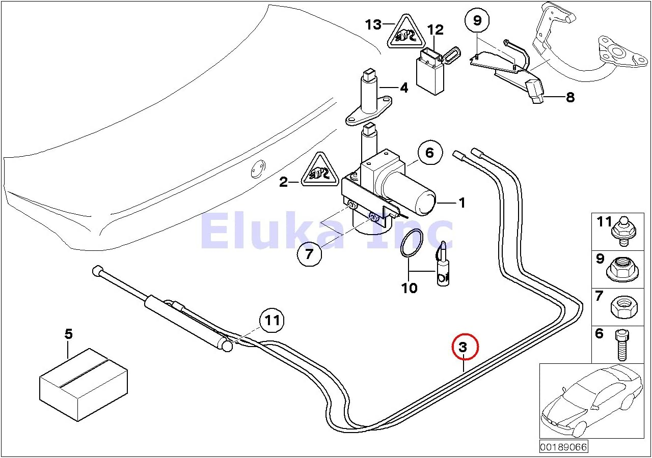 BMW Genuine Trunk Lid Hydraulic Cylinder 745i 750i 760i ALPINA B7 745Li 750Li 760Li