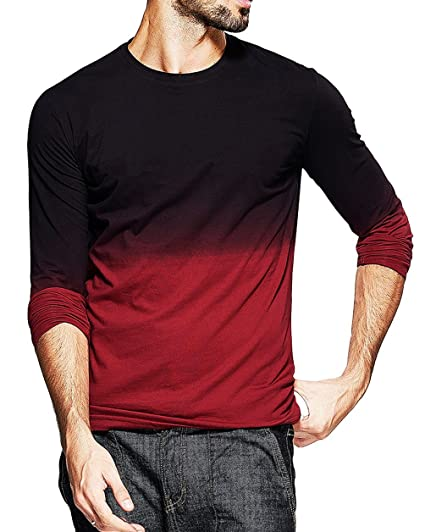 a4b199af7cb fanideaz Men s Cotton Round Neck Full Sleeve T-Shirt (Red and Black