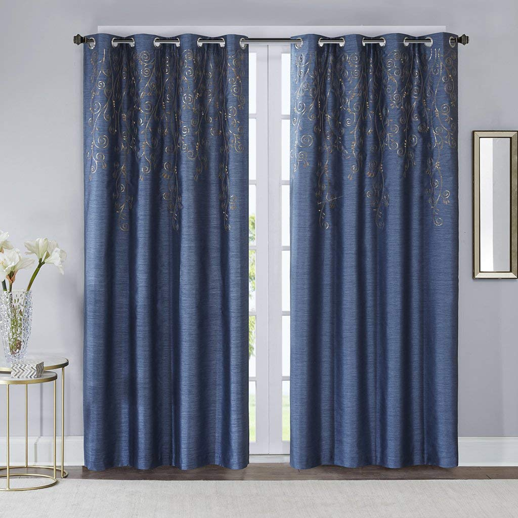 Amazon.com: Blue Curtains for Living Room, Contemporary Modern ...