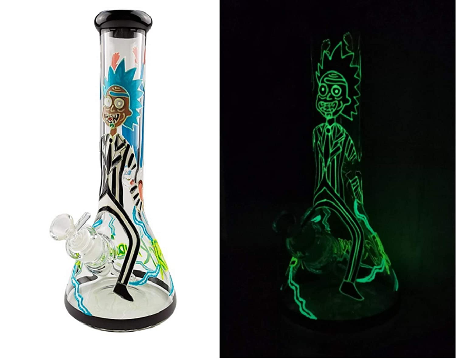 GoShopster 12.5 Inches Glass Vase Sculpture Hand Crafted and Designed Glow in the Dark