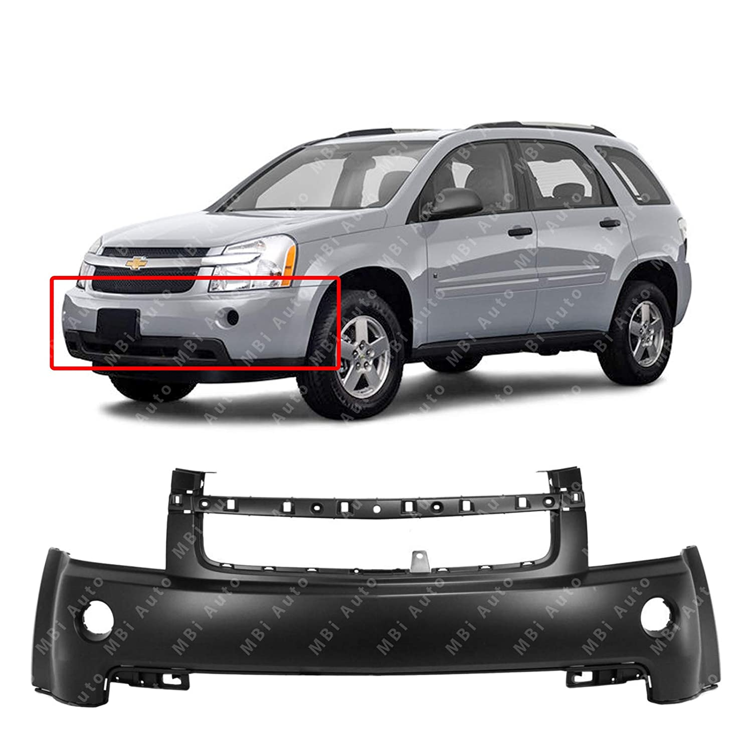 GM1000840 Front Bumper Cover Fascia for 2007 2008 2009 Chevy Equinox 07 08 09 MBI AUTO Primered