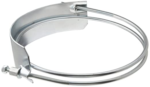 Dixon SC300 Plated Steel Clockwise Wound Right Hand Spiral Clamp 3 Hose ID 3 to 3-1//2 Hose OD Range