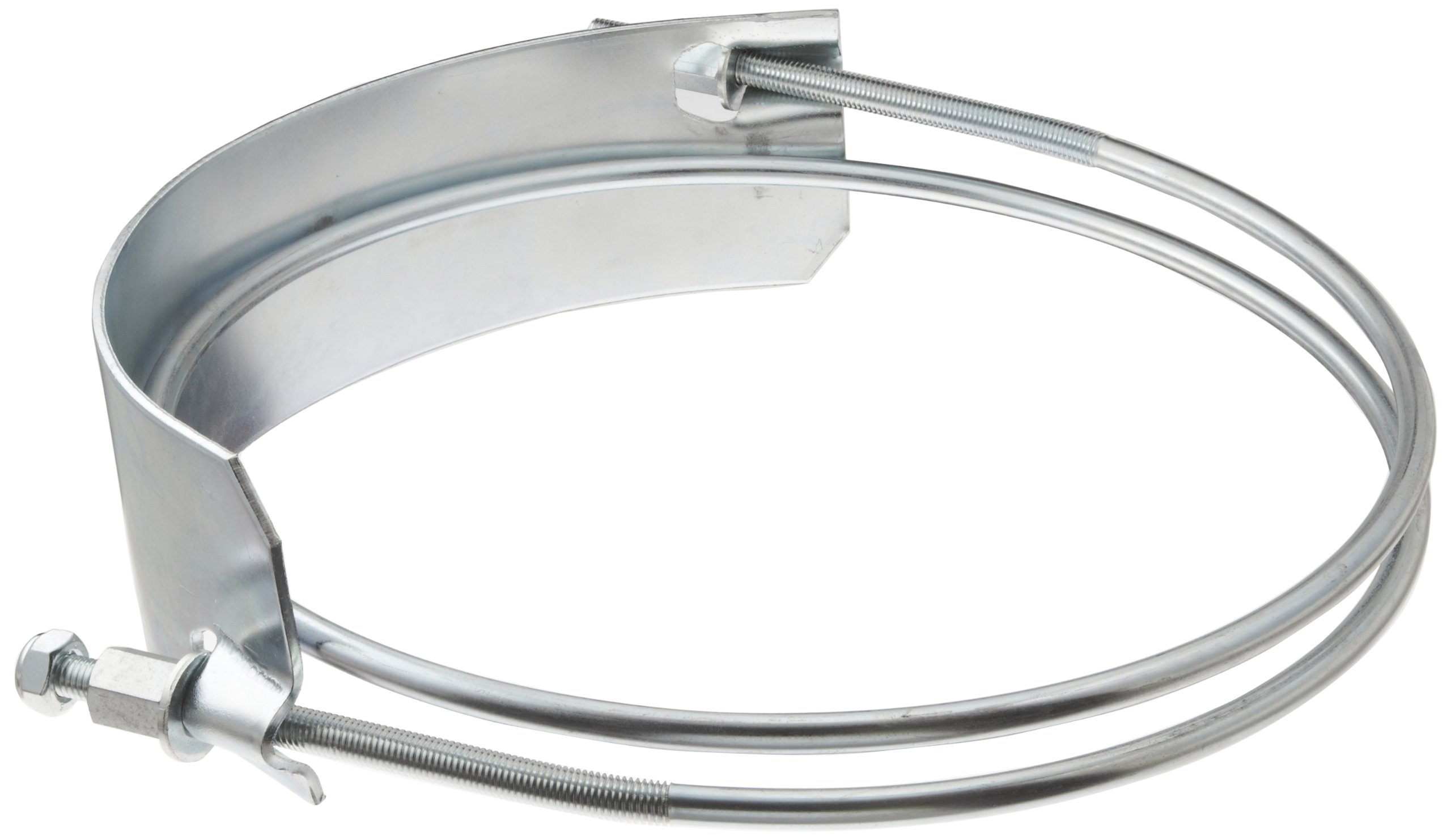 Dixon SC800 Plated Steel Clockwise Wound Right Hand Spiral Clamp, 8'' Hose ID, 8-1/2'' to 9-1/4'' Hose OD Range