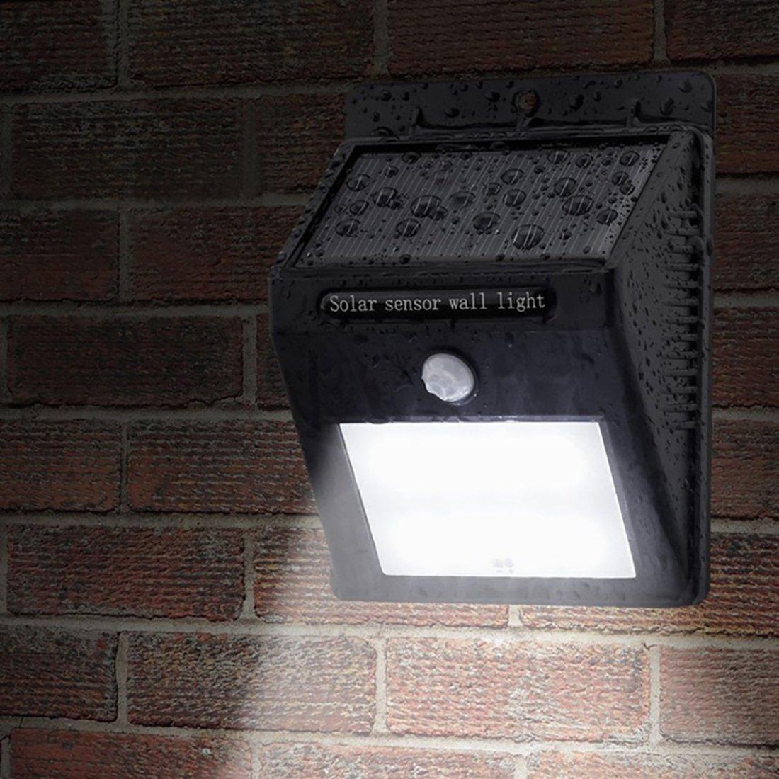 DealMux Solar Motion Sensor Light, 80 Lumens 12 LED Waterproof Solar Power Security Night Lights, Garden Wall Spotlight -3 Pack