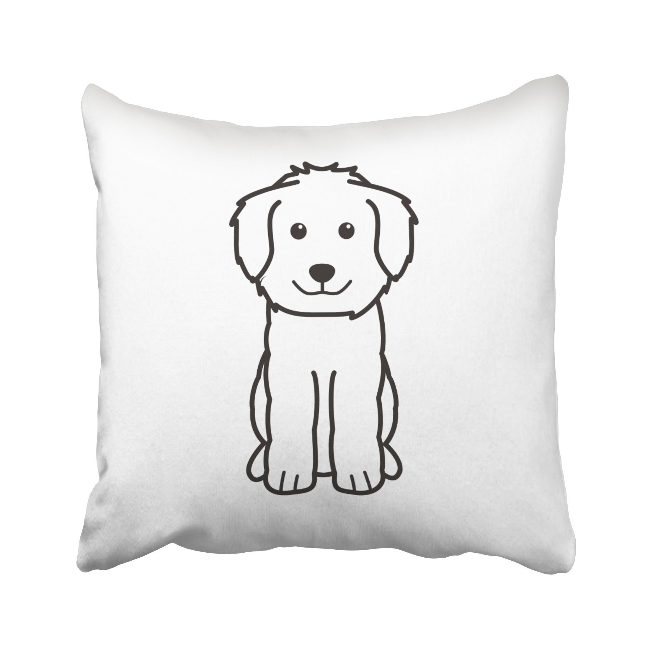 ONELZ Dog Square Decorative Throw Pillow Case, Fashion Style Zippered Cushion Pillow Cover (20X20 inch)