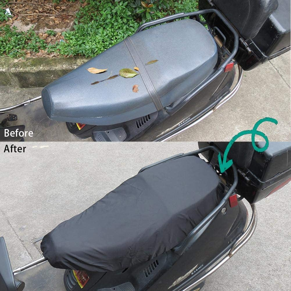 Verschlei/ßfeste Elastische Universal Motorrad Roller Sitzbezug Schutz F/ür Alle Jahreszeiten 210D Oxford Tuch /& PU wasserdichte Motorrad Sitzbezug