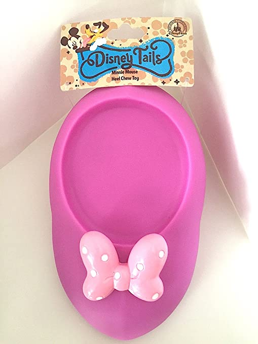 Disney Tails Pet Toy Minnie Mouse Heel Shoe Chew Toy