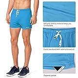 "Baleaf Men's 3"" Workout Bodybuilding Shorts Zipper"