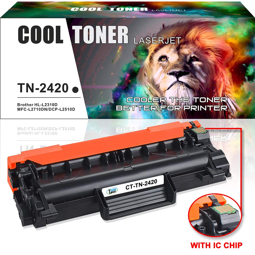 (WITH CHIP) Cool Toner Compatible for Brother TN2420 TN-2420 TN 2420 (TN2410) Toner for Brother HL L2350DW HL-L2375DW L2310D L2357DW HL-L2370DN Brother MFC L2710DN MFC-L2710DW MFC-L2730DW MFC-L2750DW Brother DCP-L2510D DCP L2530DW L2537DW L2550DN Cool Ton