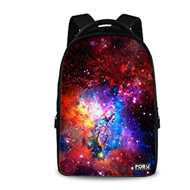 343a3e1041e FOR U DESIGNS 13 Inch Casual Galaxy Backpack School Laptop Backpack  Shoulder Backpack for Kids