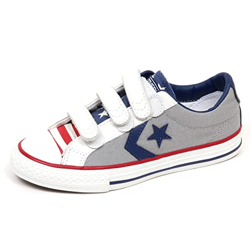 77e086290d607 CONVERSE 348526C dolphin scarpe bambino all star player strappi 33   Amazon.it  Scarpe e borse
