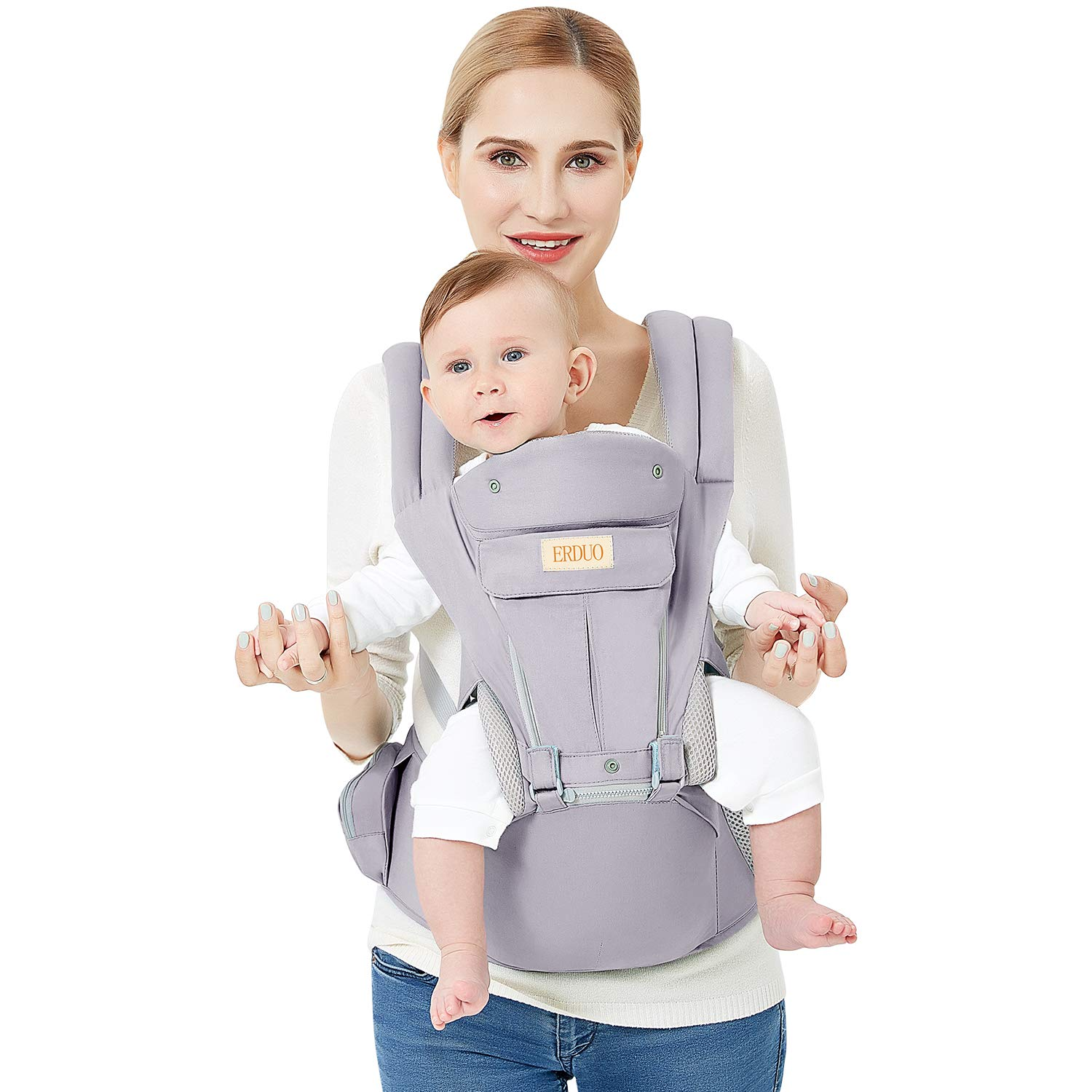 3D Baby Hip Carrier All Season Baby Sling with 9 Carry Positions Truly Hands-Free for Easy Breastfeeding, No Infant Insert Needed, One Size Fits All -Adapt to Newborn, Infant Toddler, Great Hiking