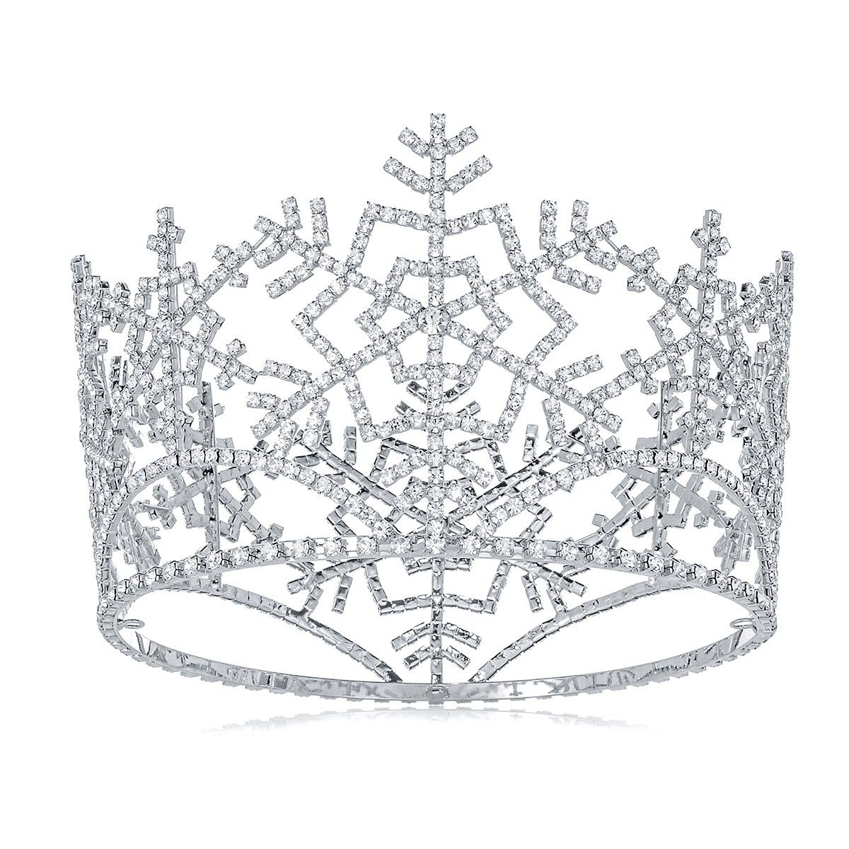 DcZeRong Ice Queen Crown Full Round Snowflake Tiara Adult Women Birthday Prom Pageant Costume Crown by DcZeRong