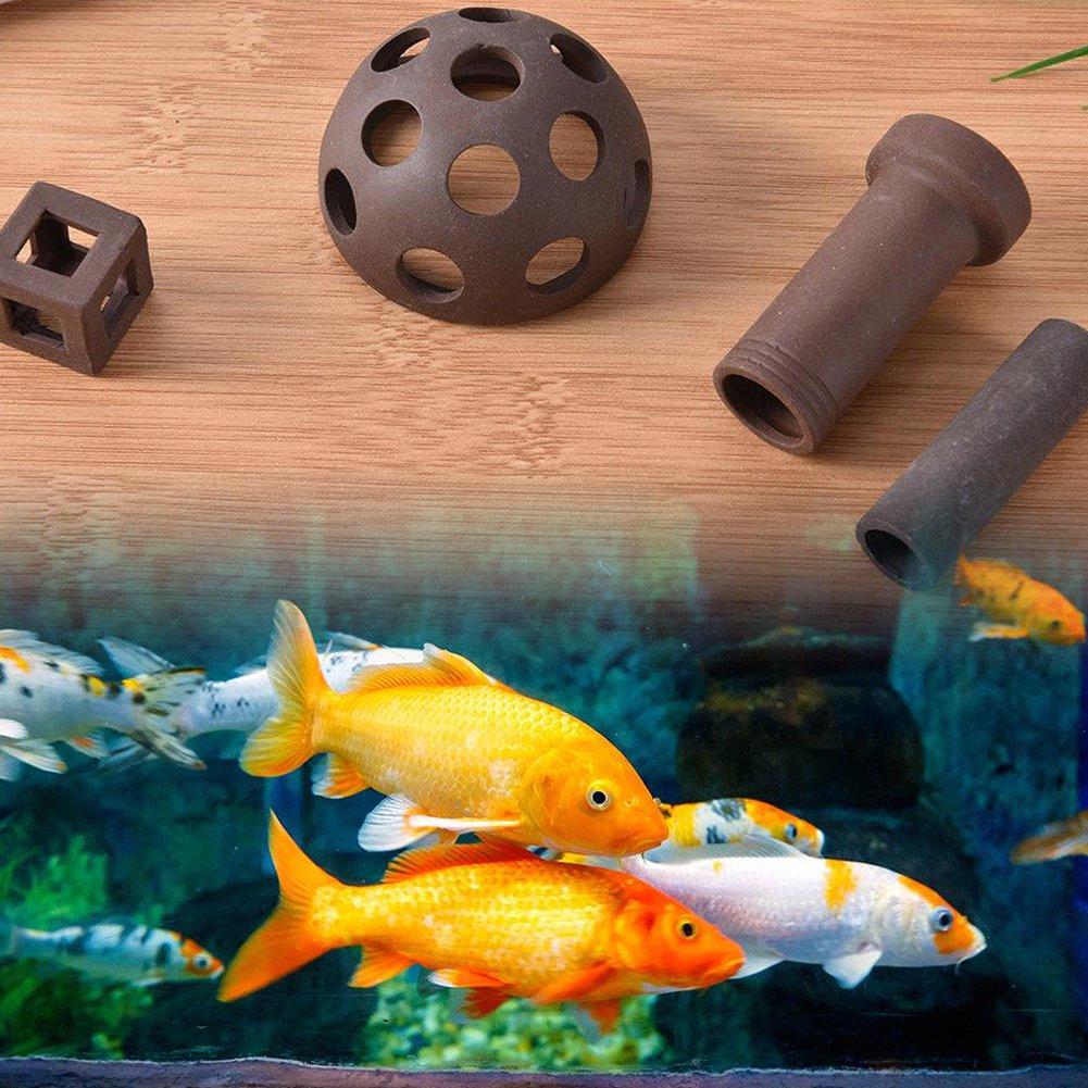 Hinmay - Adorno de cerámica para acuario, decoración de acuario, tubo cuadrado artificial, para pecera, cobertizo de cría: Amazon.es: Productos para ...