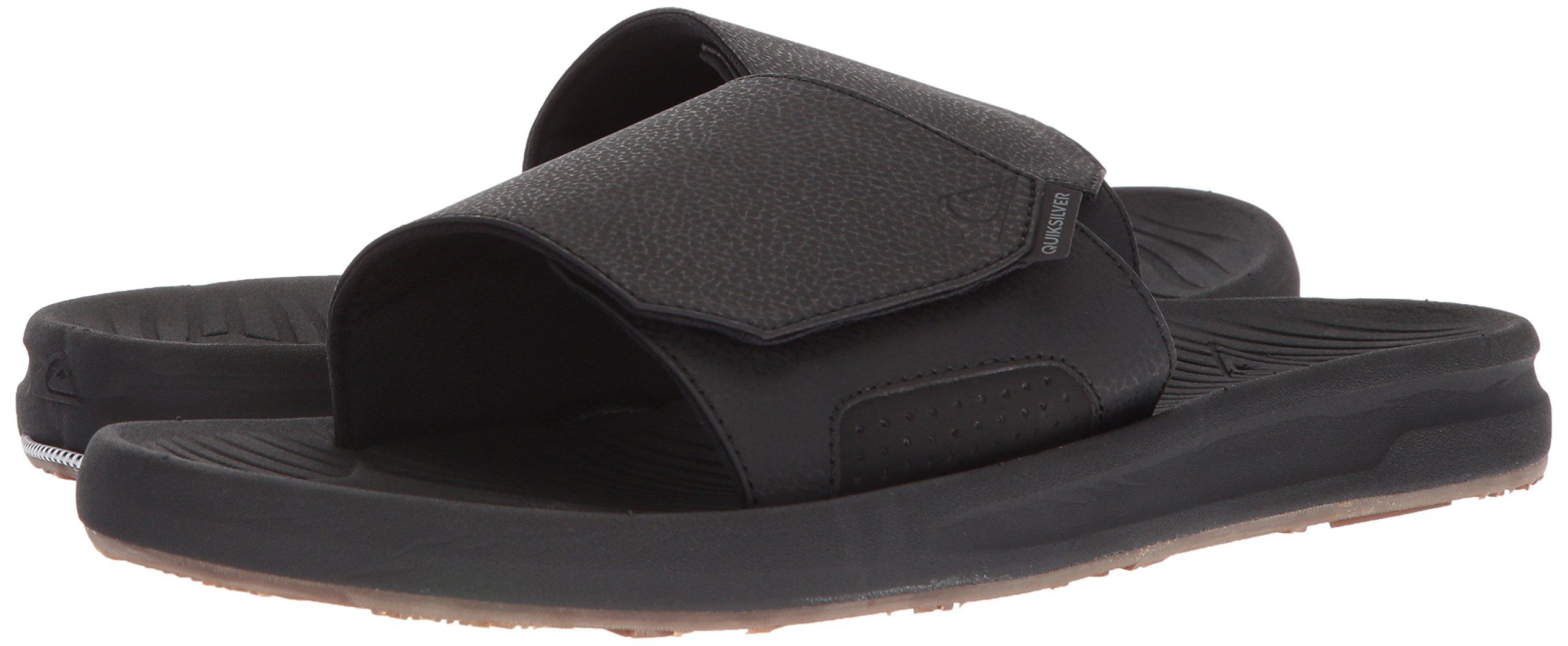 Quiksilver Men's Travel Oasis Slide Sandal, Black/Black/Brown, 8(41) M US by Quiksilver (Image #5)
