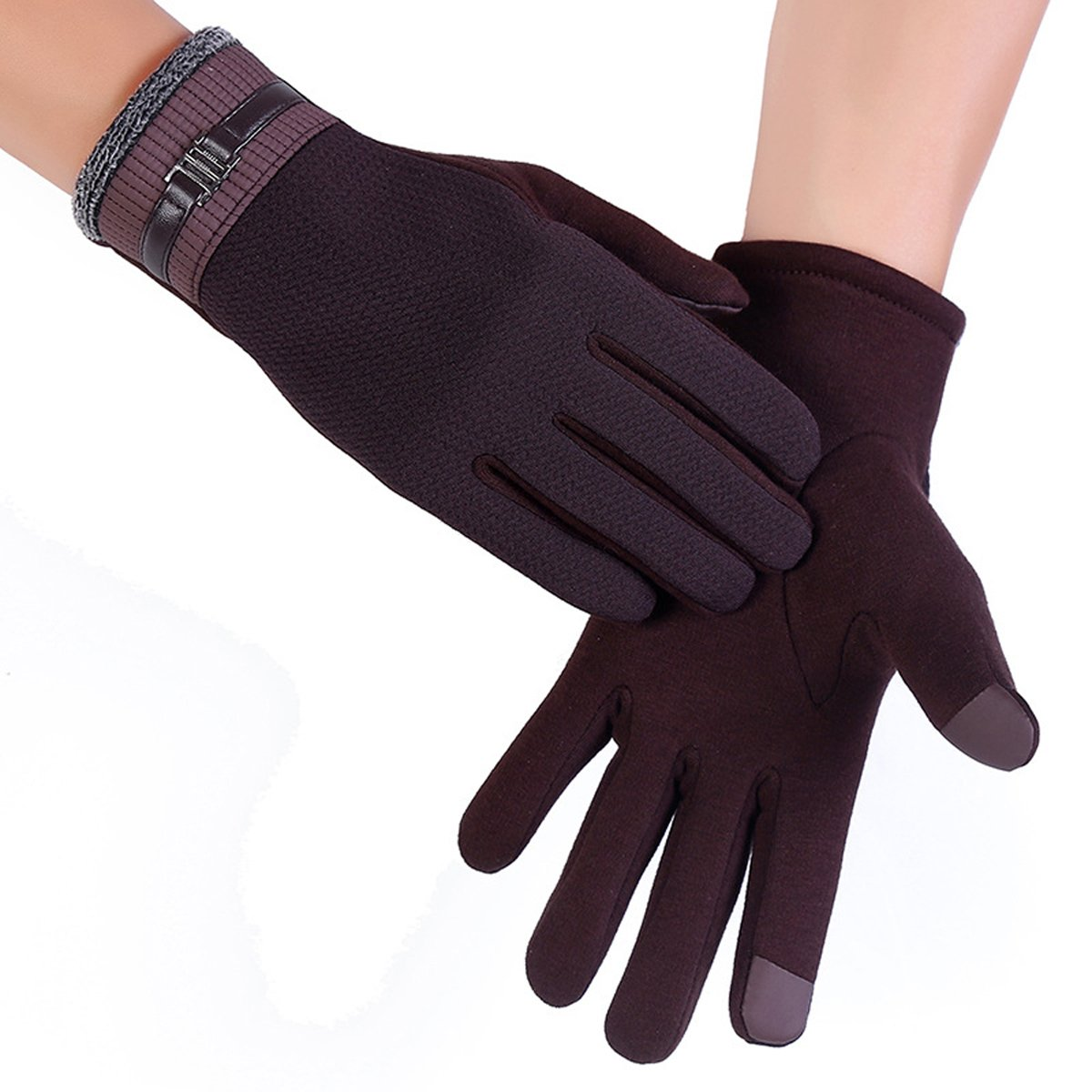 Men Mittens Winter Gloves Tick Touch Screen Texting Mittens Warm Cold Weather