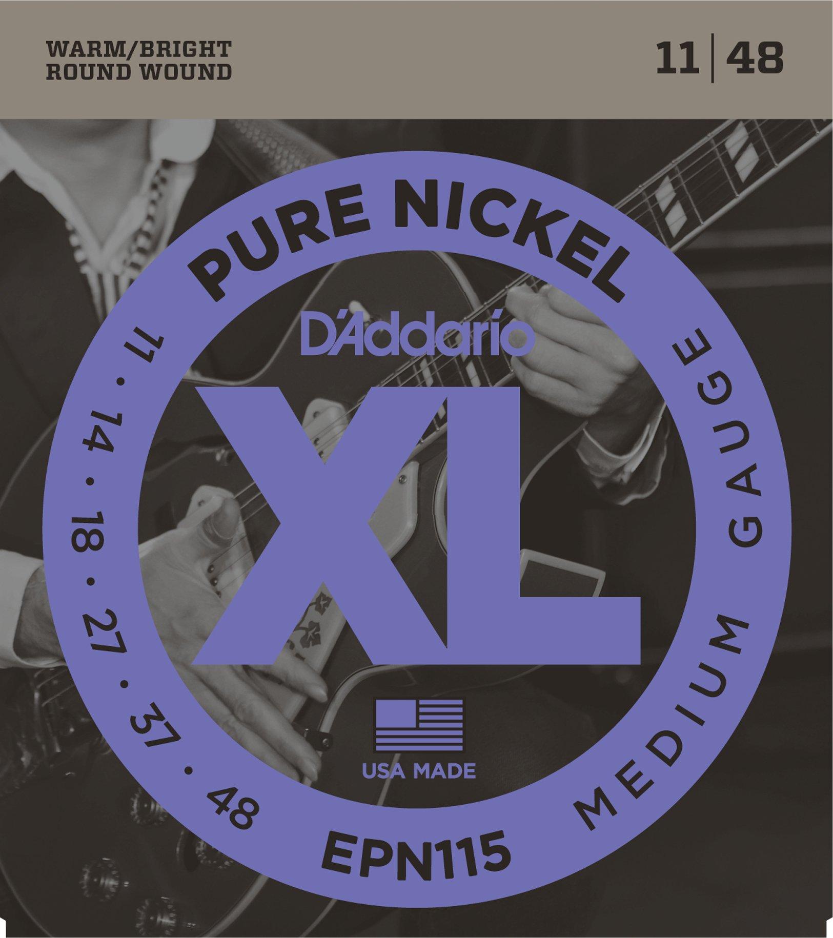DAddario EPN115 - Juego de cuerdas para guitarra eléctrica de níquel, 011