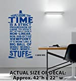 """XTRA-LARGE - """"Time Is Wibbly Wobbly, Timey Wimey Stuff"""" Wall Décor Sticker Vinyl Decal - Doctor Who Quote - Tardis"""