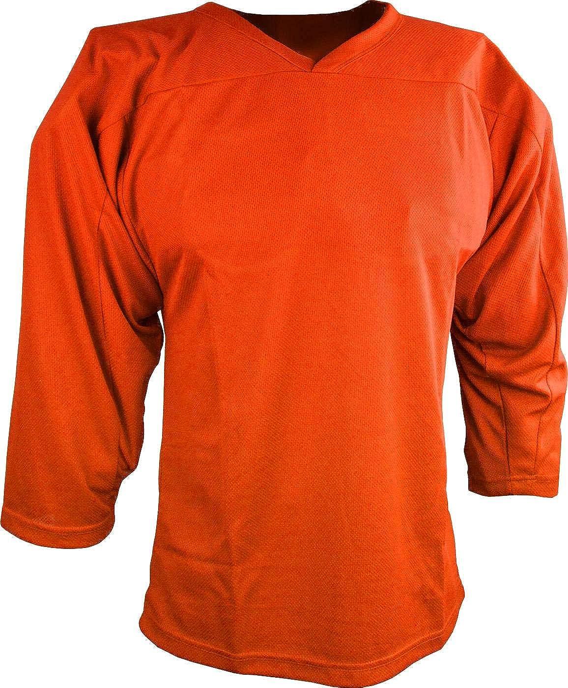 Sports Unlimited Youth Hockey Practice Jersey Orange: Clothing