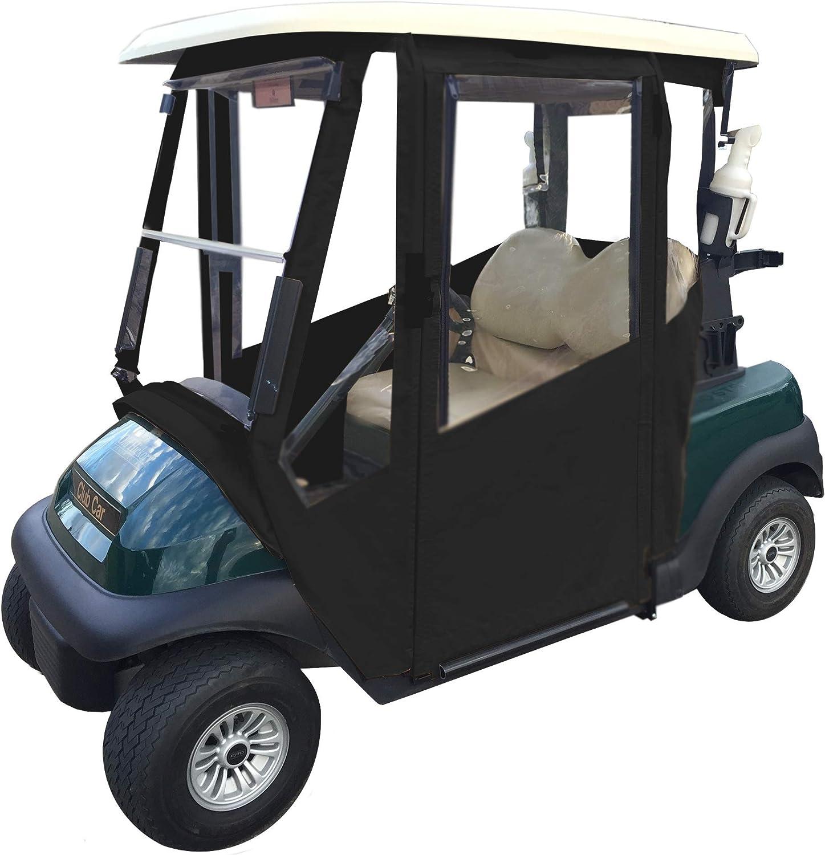 Doorworks Scharniertür Golf Cart Gehäuse Made Mit Sunbrella Leinwand Swinging Türen Mit Reißverschluss In Windows Ohne Bohren Lösung Einfach Zu Installieren Zu Hause Ezgo Yamaha Club Auto Jet