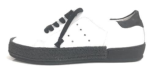 cc35fe189f YAB Scarpe Uomo WTG BY Sneaker Pelle Bianca Giro para Artigianale ...