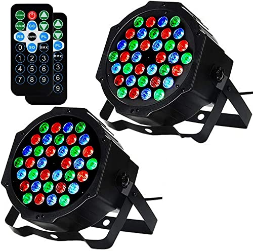 LITAKE DJ Par Lights, 36 LED Stage Lights, 2 Packs
