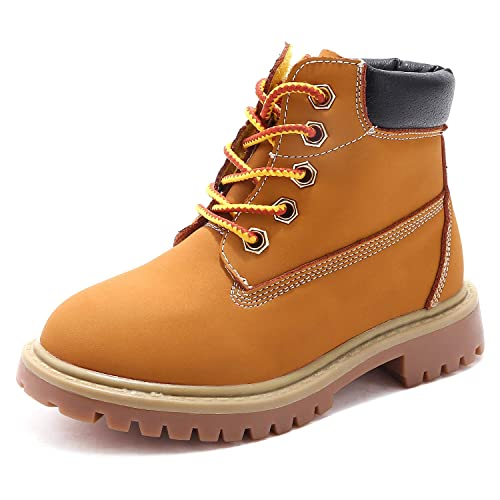 adeb746a804 SKOEX Kids Classic Ankle Boot Boys Girls Waterproof Lace Up Workboots